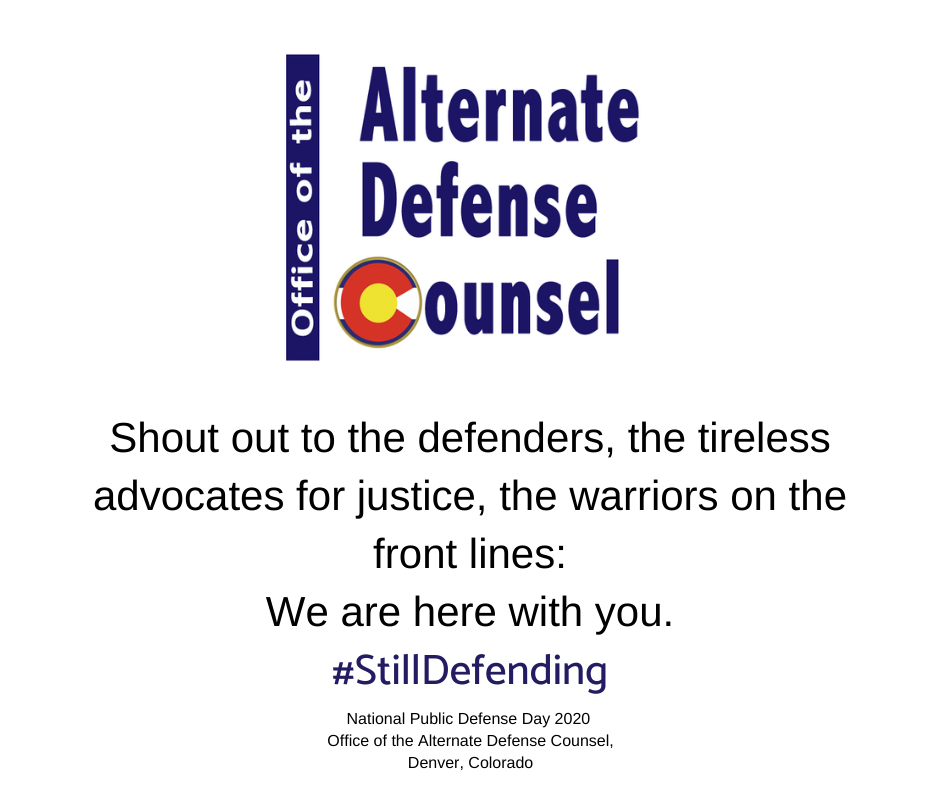 The Office of the Alternate Defense Counsel Celebrates Public Defenders